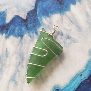 Octopus's Garden Originals Jewelry - Gorgeous Sterling Wrapped Sea Glass Pendant